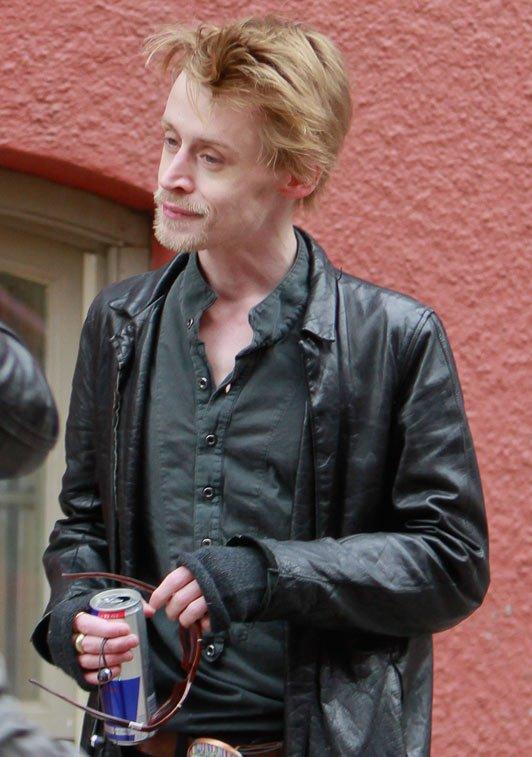 Macaulay culkin dürr und schlecht gepflegt in nyc foto inf